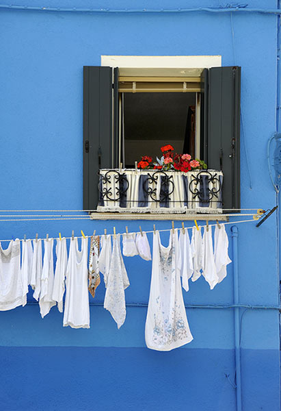 Blue Wall on Burano